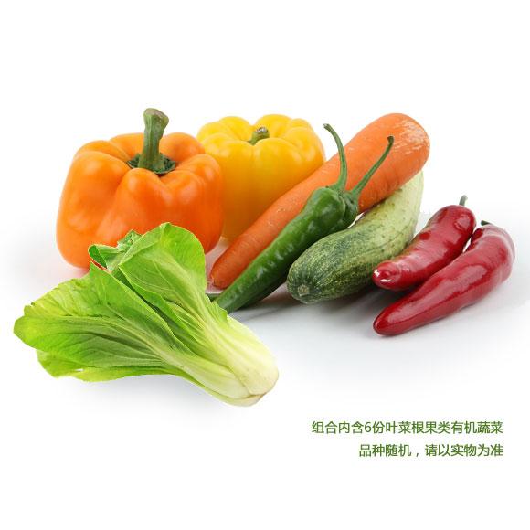 有機蔬菜隨機配禮包A(葉菜根果類6份)