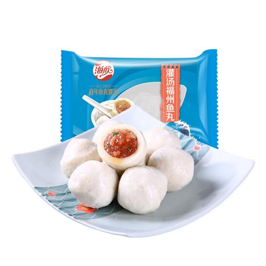 海欣 灌汤福州鱼丸 500g 约21个 火锅烧烤食材关东煮食材丸子