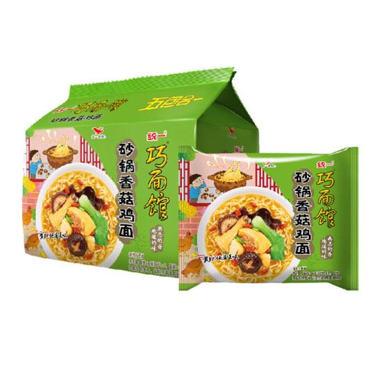 統一 巧面館 方便面 香菇砂鍋雞面 98g袋面*5袋 五連包