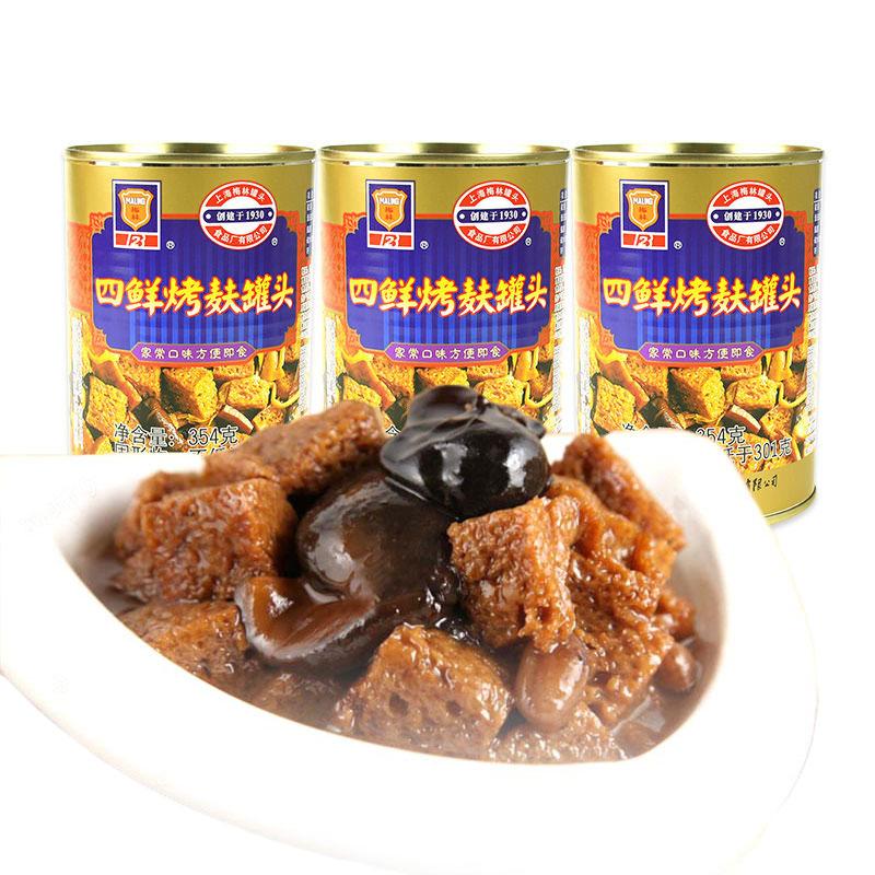 梅林 四鲜烤麸罐头