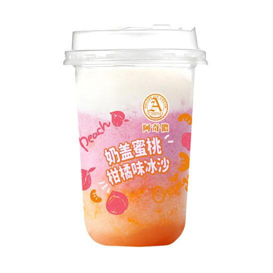 阿奇儂 ACHINO (中國)臺灣進口 奶蓋蜜桃柑橘味冰沙(冷凍飲品)290g/杯 冰淇淋