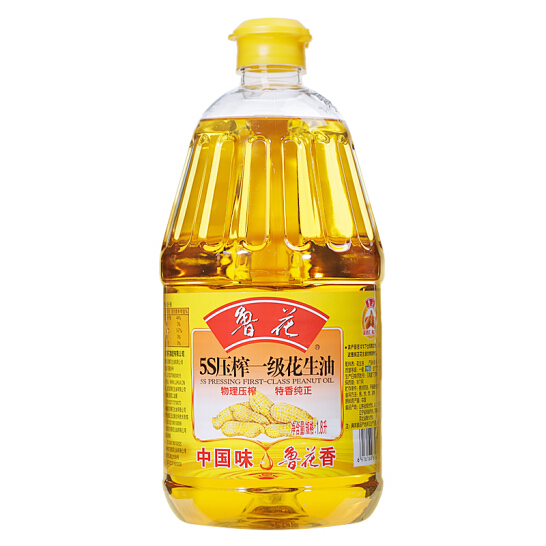 魯花5S壓榨一級花生油1.8L