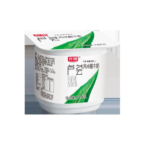 菜管家随心订 芦荟风味酸牛奶125g