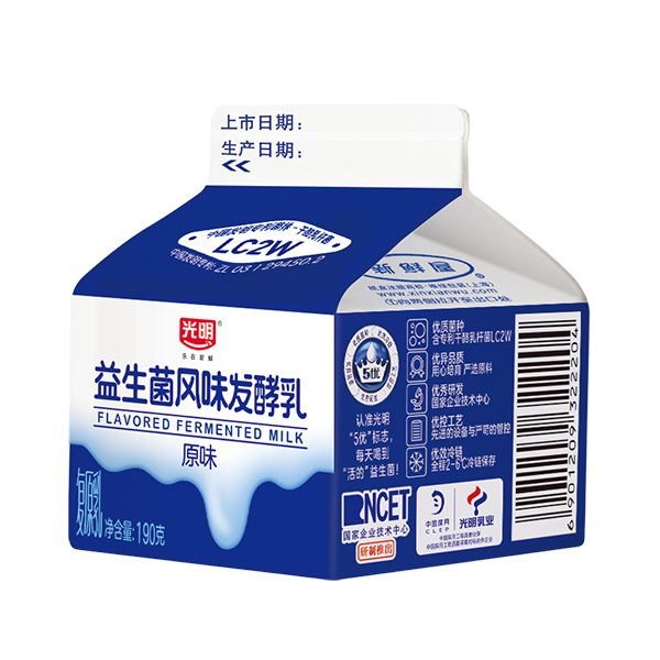 菜管家随心订 190基础风味酸牛奶(原味)190g