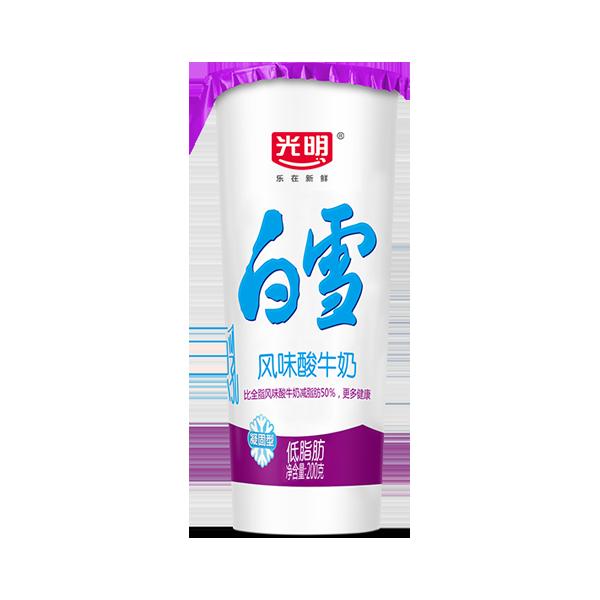 菜管家随心订 白雪风味酸牛奶(低脂)200g