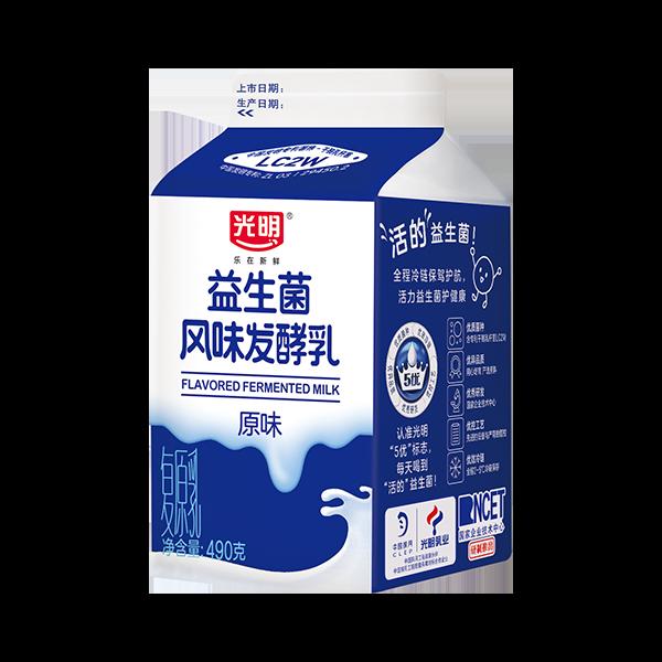 490风味酸牛奶(原味)490g