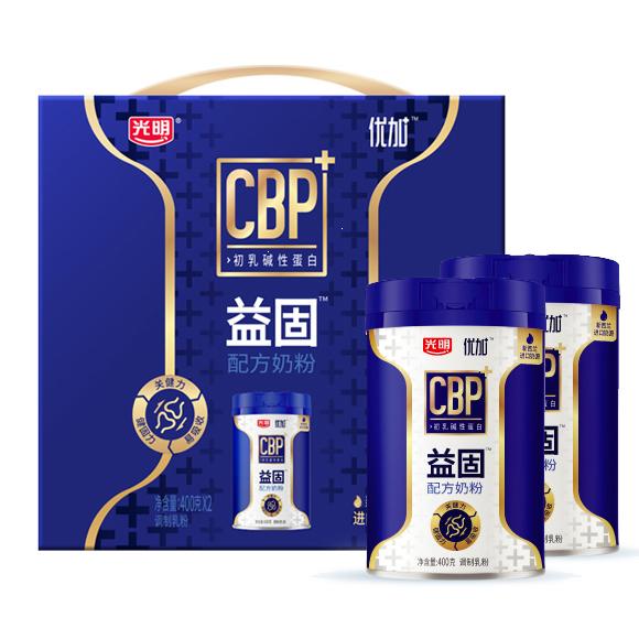 光明优加益固配方奶粉(调制乳粉)礼盒装400g*2罐/组