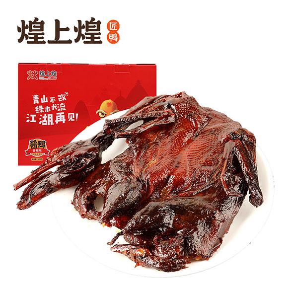 煌上煌香辣酱鸭盒鸭450克
