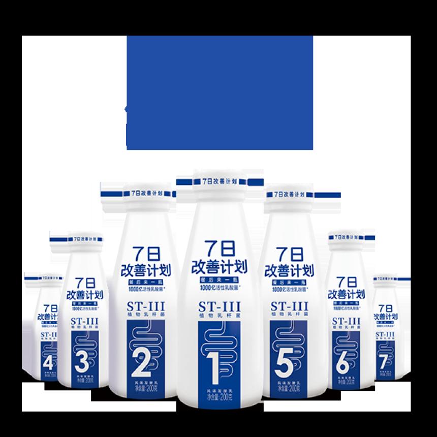 7日改善计划光明益菌多小蓝瓶风味发酵乳